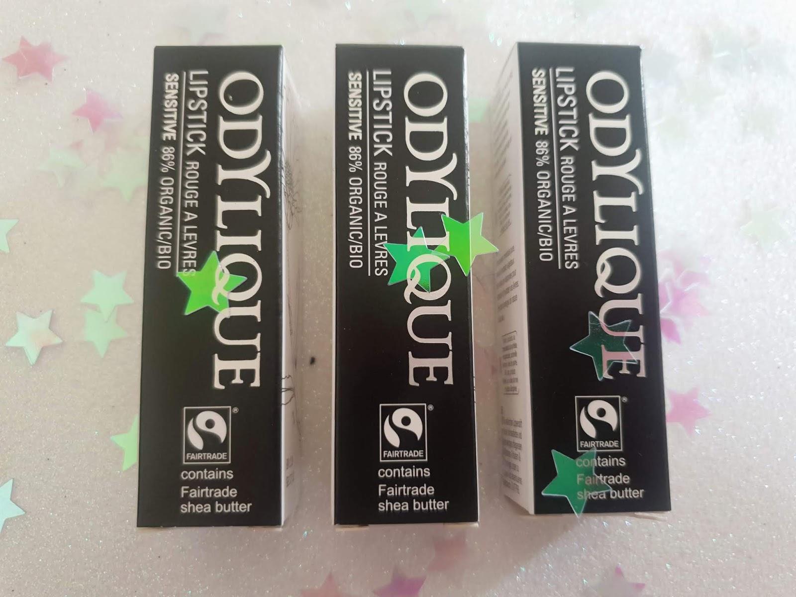Odylique Organic Lipsticks  review