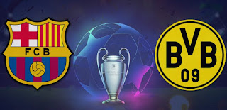 ماتش برشلونة ضد دورتموند مباشر