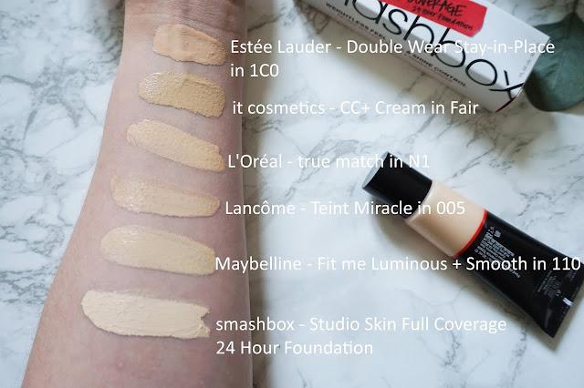 smashbox - Studio Skin Full Coverage 24 Hour Foundation Swatch