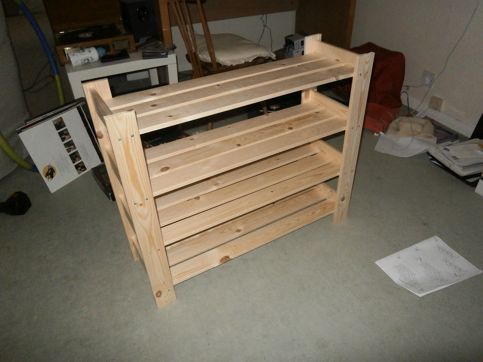 Free Woodworking Plans For A Shoe Rack Easy Build