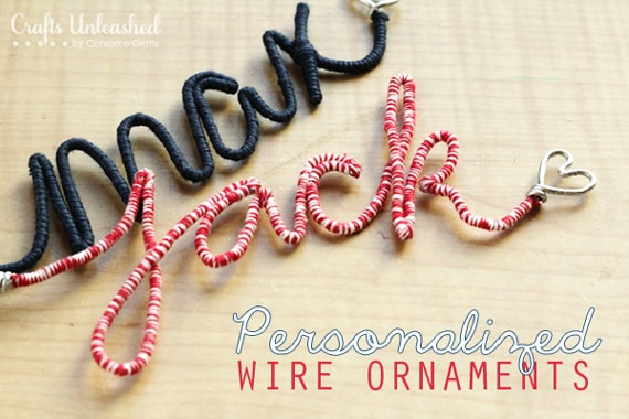 Personalized Wire Name Ornaments from Crafts Unleashed