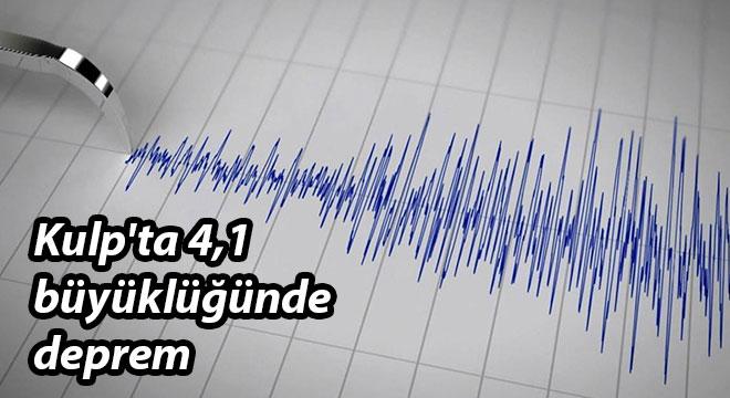 Diyarbakır Kulp'ta 4,1 büyüklüğünde deprem