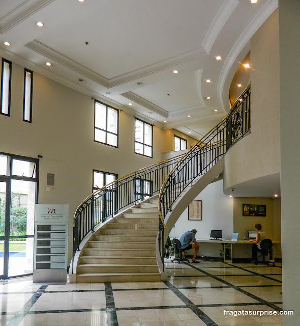 Lobby e business center do Hotel Mercure Pinheiros, São Paulo