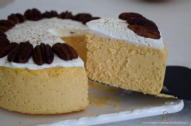 Cheesecake de calabaza sin base