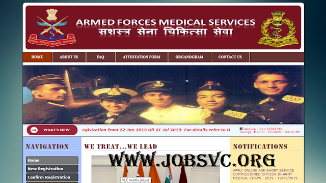 AFMS Recruitment (2019) - 150 Vacancies for SSC Officer