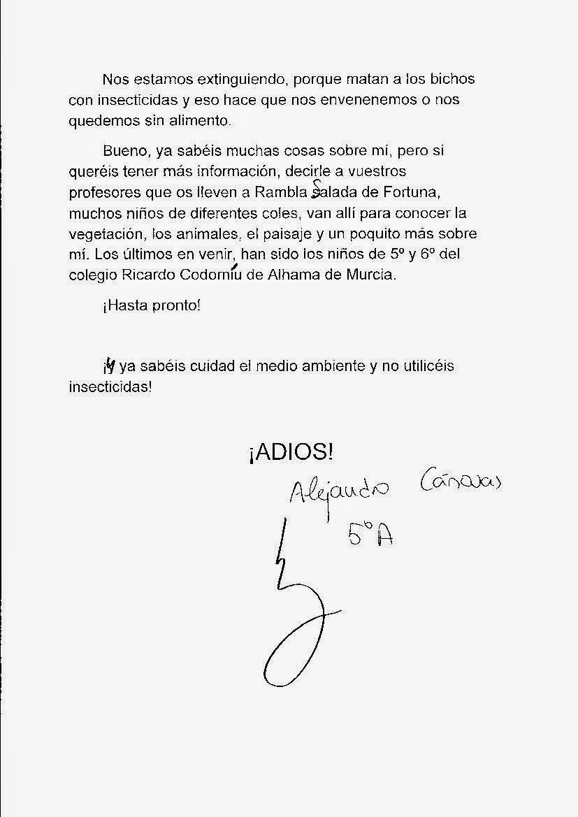SEGUNDA PÁGINA. CUENTO DE ALEJANDRO CÁNOVAS 5º PRIMARIA