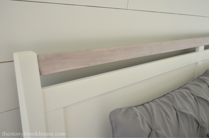 Bed Frame Rail Whitewashed