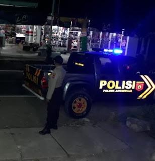 Personil Polsek Anggeraja Polres Enrekang Tingkatkan Patroli Malam Di Jam-Jam Rawan