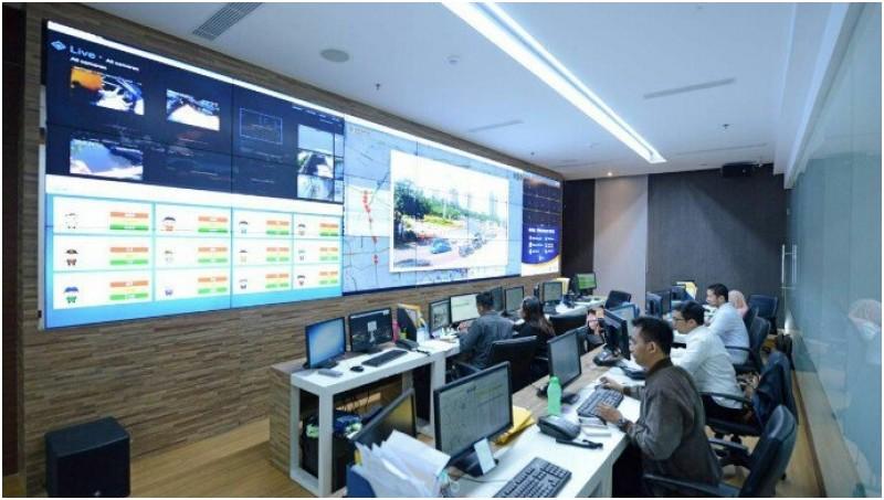 Suasana Control room Jakarta Smart City