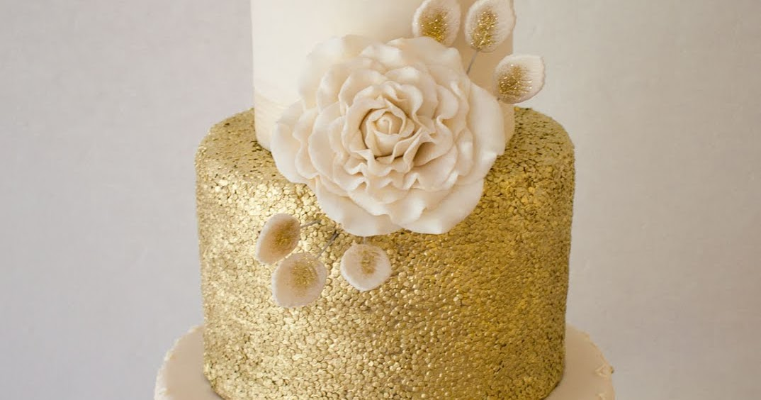 Delana\'s Cakes: Gold and Cream Wedding Cake
