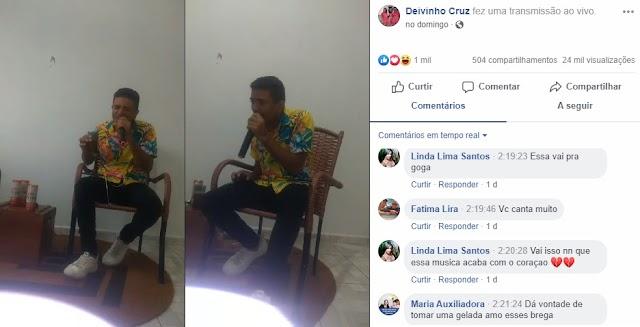 Live do Bem de Deivinho Cruz teve mais de 24 mil acessos e várias doações de cestas básicas