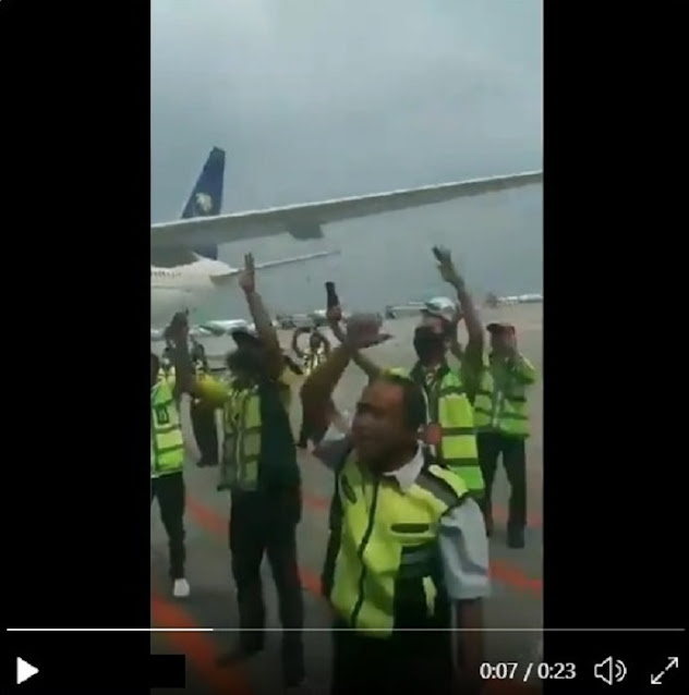[VIRAL VIDEO] MENGHARUKAN… Crew Bandara Soekarno-Hatta Menyambut Antusias dan Gembira Kedatangan HR5