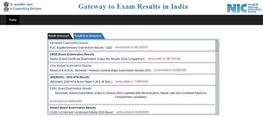 Result checking website for indian student
