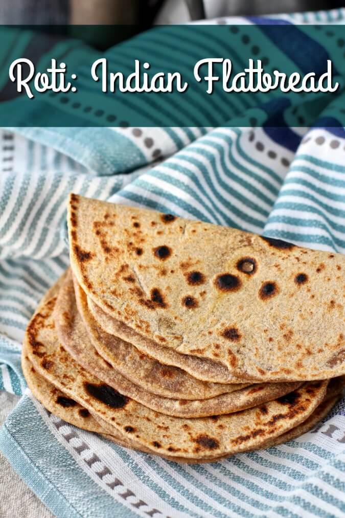 Folded Indian flat bread, roti