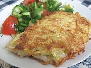 Рыба в картофельном кляре аренная