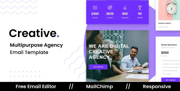 Best Responsive Email Template For Agency