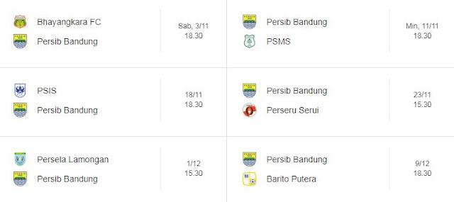 Jadwal Persib Bandung di Liga 1 Bulan November-Desember 2018