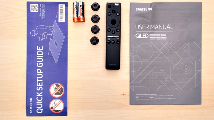 samsaung Q60R lo que se encuentra en la caja