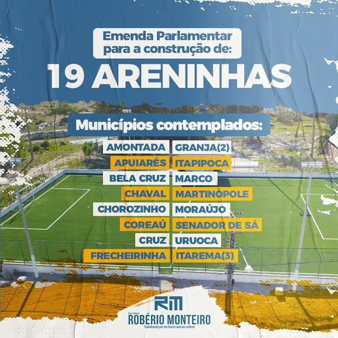 Deputado Robério  Monteiro destina emenda de 650 mil reais a Senador Sá.