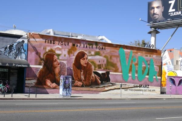 Vida series premiere wall mural ad