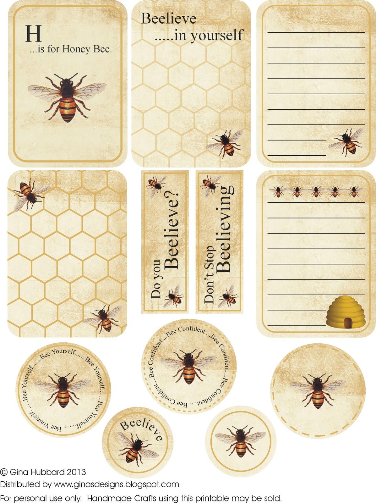 pszczoły na etykietach