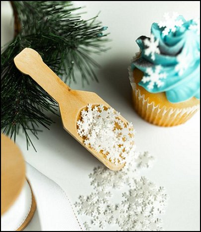 Edible Snowflakes - Snowflake Sprinkles - Snowflake Sprinkle Mix - Frozen Cake - Frozen Cupcake - Frozen Cake Decorations - Cupcake Toppers