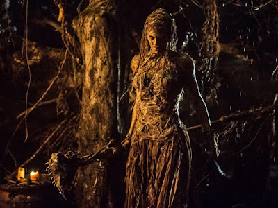 Julie Engelbrecht as the dying Witch Queen, The Last Witch Hunter