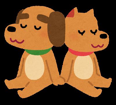 犬のカップルのイラスト