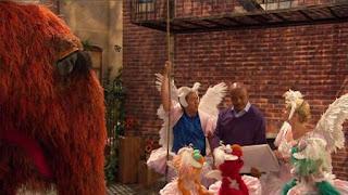 Elmo, Rosita, Gina, Snuffy, Zoe, Alan, Gordon, Sesame Street Episode 4321 Lifting Snuffy season 43