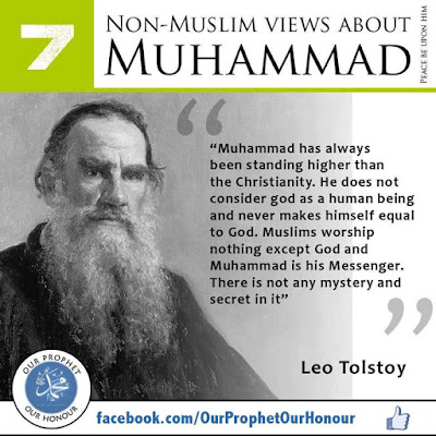 Leo Tolstoy views about Prophet Muhammad (PBUH) by Ummat-e-Nabi.com