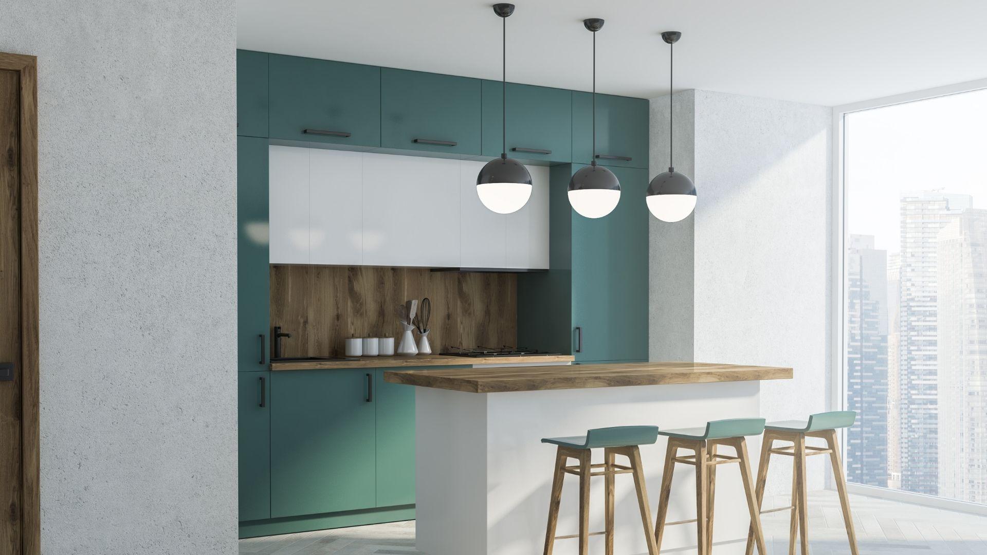 krzesła do kuchni w kolorze zielonym