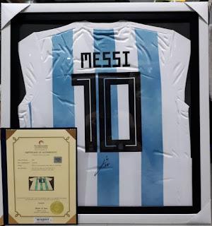 Jersey Lionel Messi Nomor 10 Argentina Tanda Tangan Messi MSS002