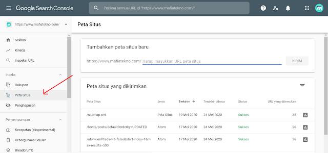 Cara Submit Sitemap Blog ke Google Webmaster Terbaru - Peta Situs