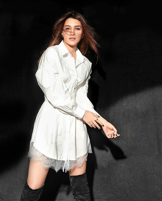 Kriti Sanon HD Wallpaper White Dress