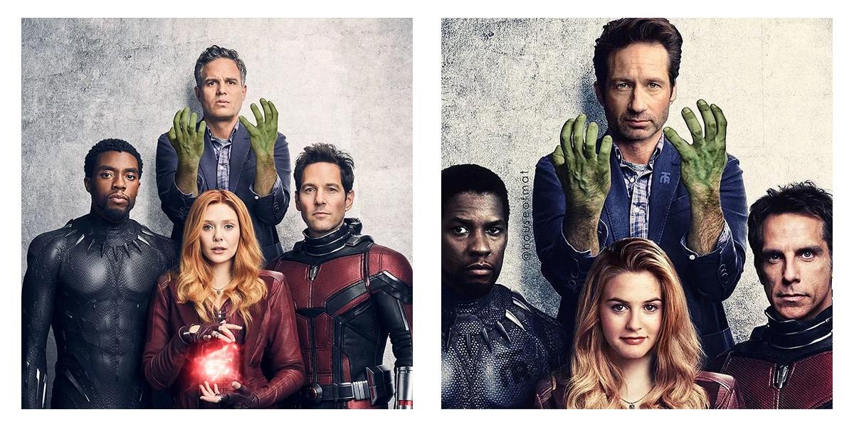 Artista re-imagina elenco dos Vingadores se os filmes fossem lançados nos anos 90