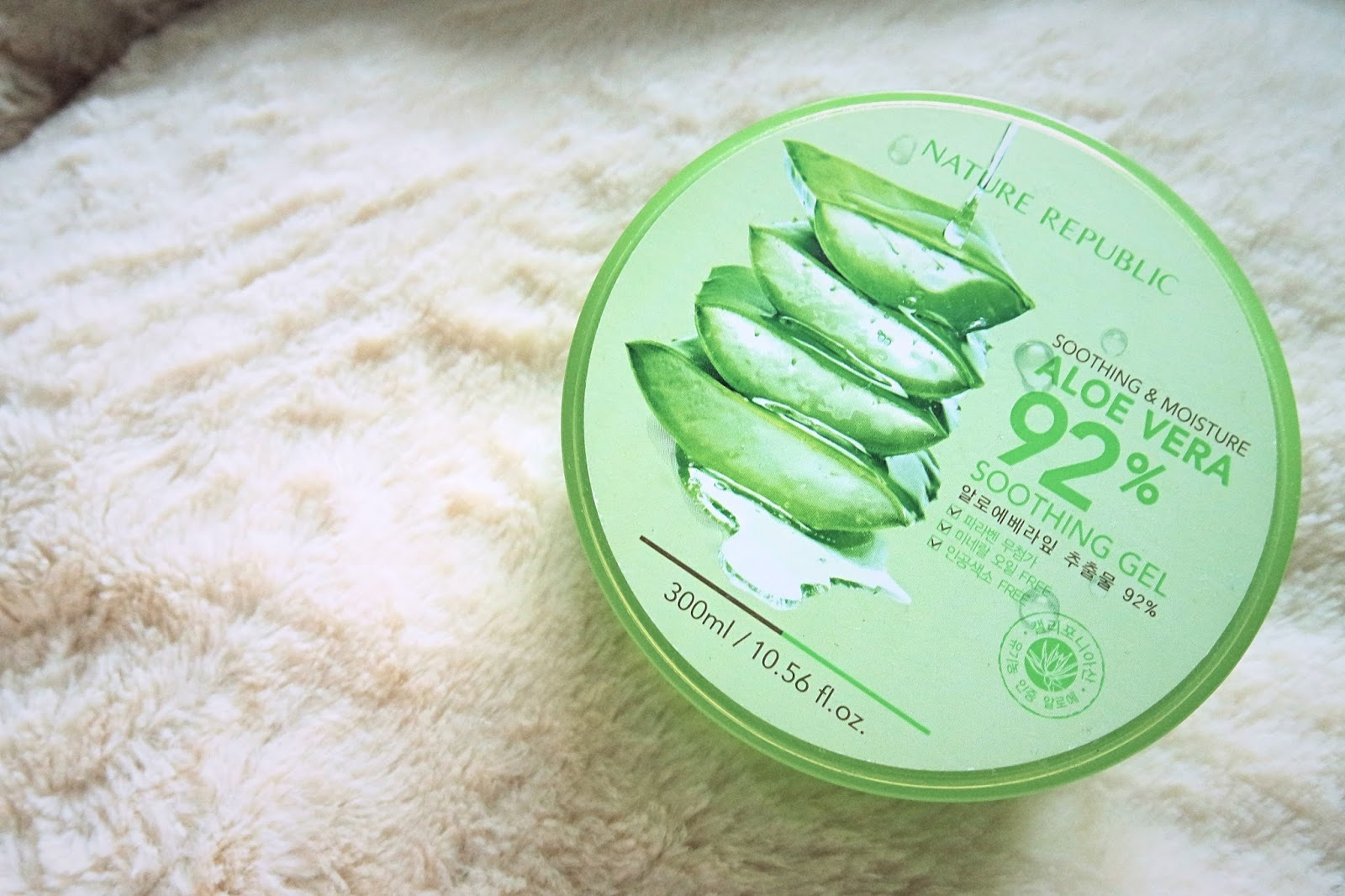 Nature republic soothing and moisture aloe vera 92 soothing gel 300ml - Nature Republic Aloe Vera 92 Gel This Is Nature Republic S Soothing Moisture