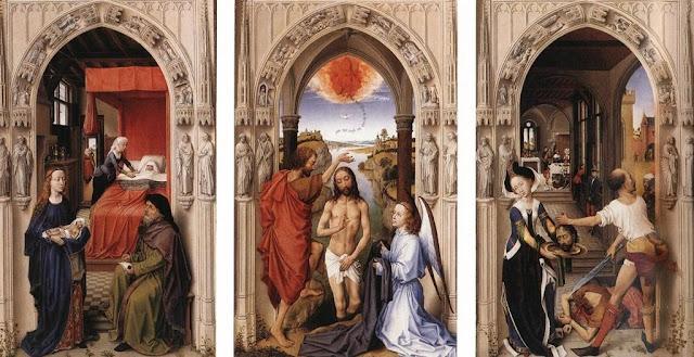 Trypique les SACREMENTS de Van der Weyden