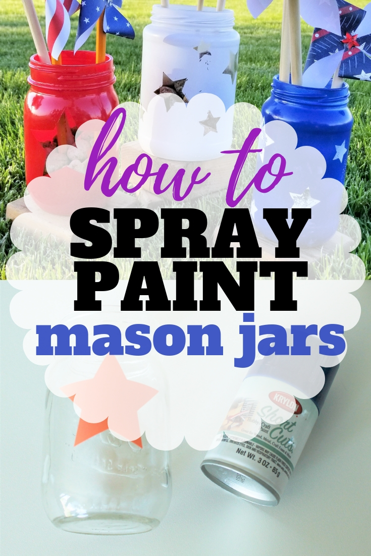 How to Spray Paint a Mason Jar in 6 Easy Steps | Sew Simple Home