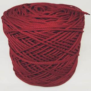 Benang Rajut Polyester Super Merah Maron Kode 8874 ...