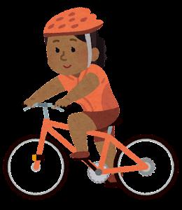 サイクリングをする人のイラスト(黒人女性)