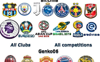 3D Logos | All Competitions | DP 1.0 | PES2018 | Released [07.10.2017]