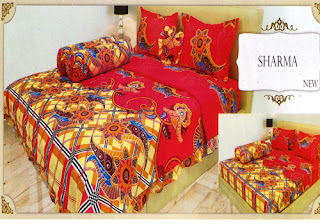 sprei lady rose motif Sharma
