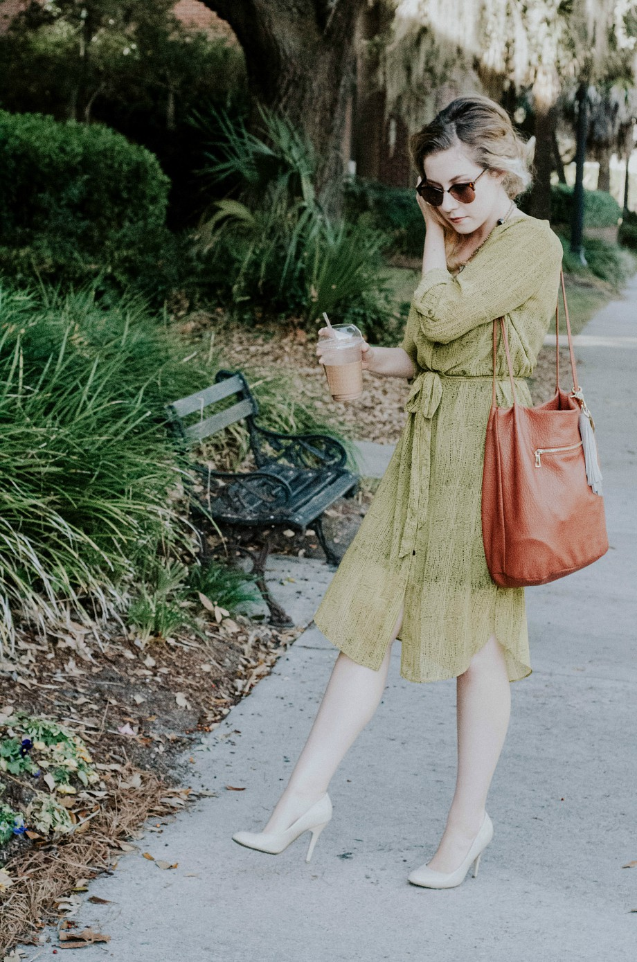 Green Chartreuse Midi Dress
