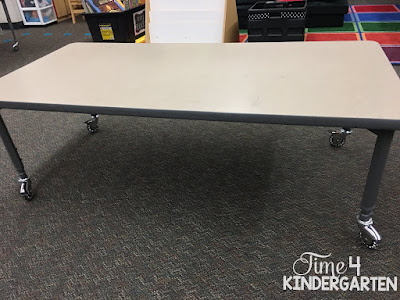 lowered table for flexible seating in kindergarten