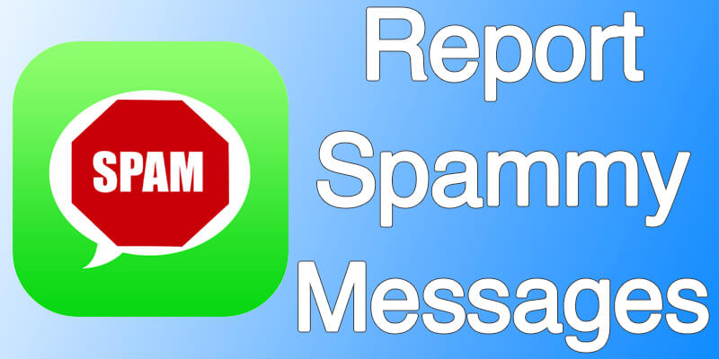report spam messages to apple