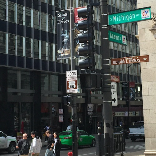 Beginn Route 66 Chicago