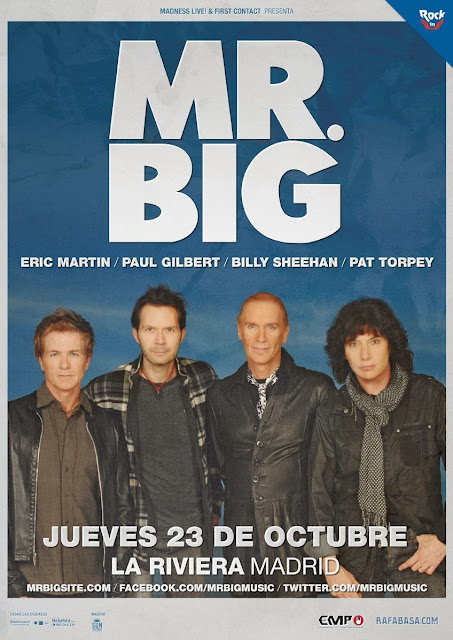 Mr. Big en España (Madrid) 2014