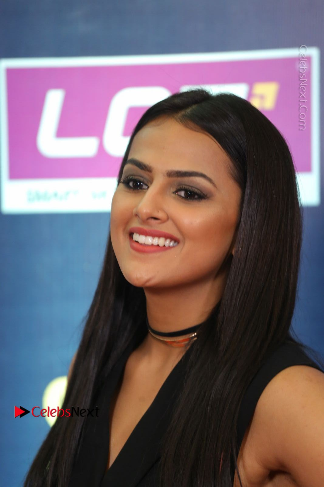 Shraddha Srinath Stills in Black Short Dress at SIIMA Short Film Awards 2017