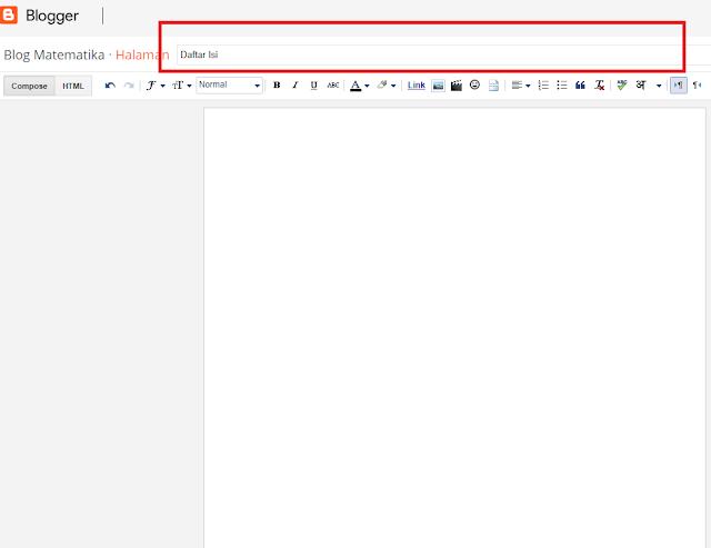 Tutorial Cara Menambahkan Daftar Isi Otomatis di Blog