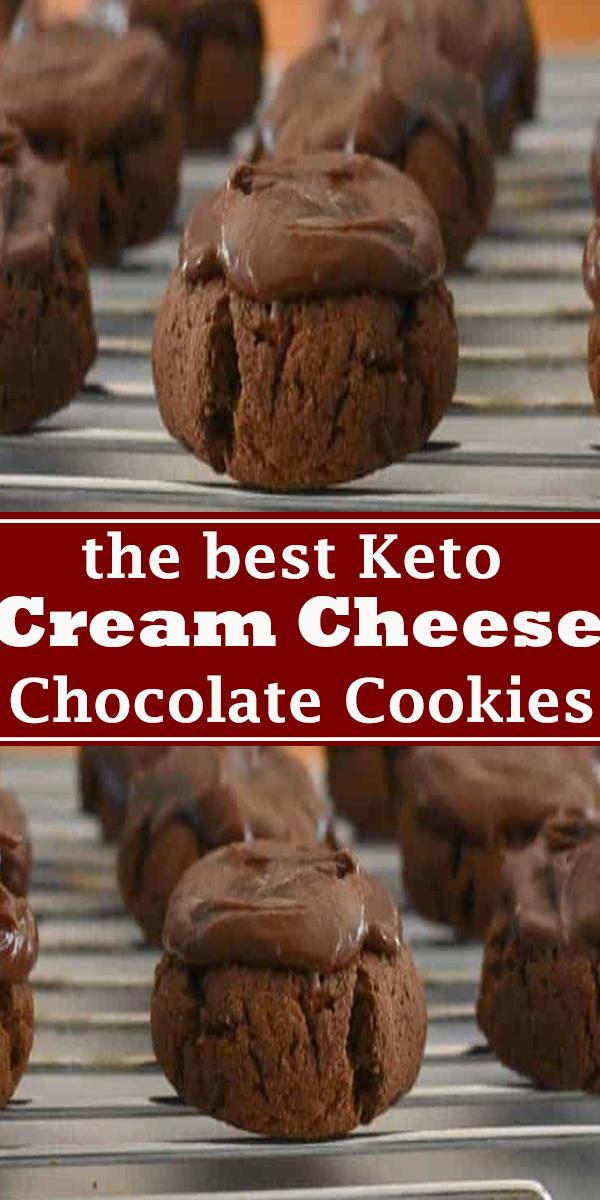 Keto Cream Cheese Chocolate Cookies #Keto #Cream #Cheese #Chocolate #Cookies #KetoCreamCheeseChocolateCookies